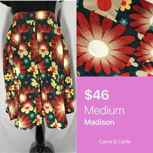 LuLaRoe Floral Madison Skirt